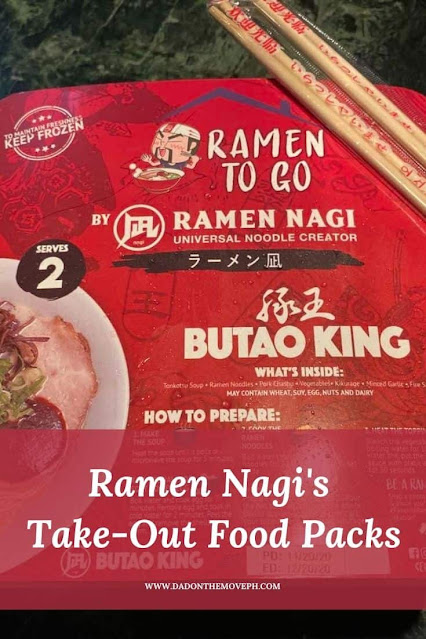 Ramen Nagi's take-out and delivery options