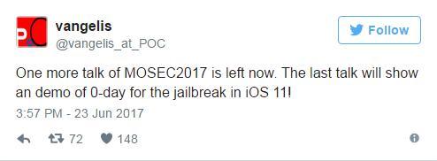 QQ%25E6%2588%25AA%25E5%259B%25BE20170626145209 KeenLab Demo iOS 10.3.2 and iOS 11 Jailbreak at MOSEC 2017 iPhone Jailbreak