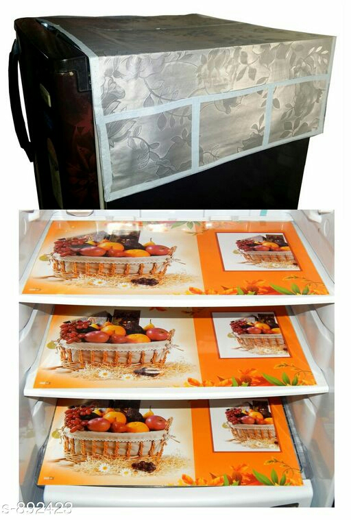 Alluring PVC Fridge Drawer Mats & Top Cover