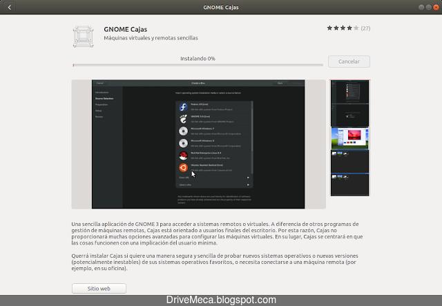 Software descarga e instala Gnome Cajas