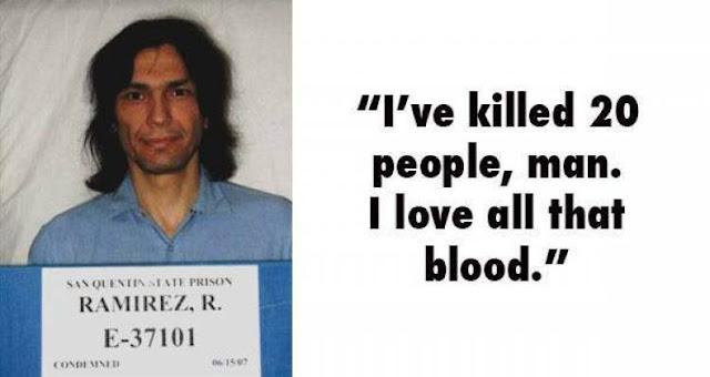 Richard Ramirez aka 'The Night Stalker' serial killer