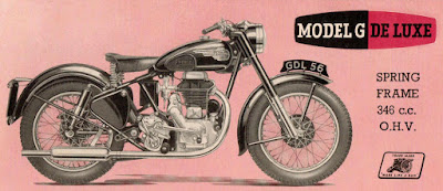 Brochure illustration of a motorcycle.