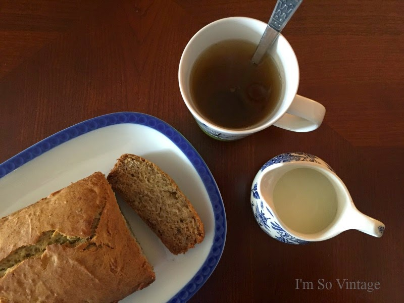 afternoon tea and gluten free banana bread