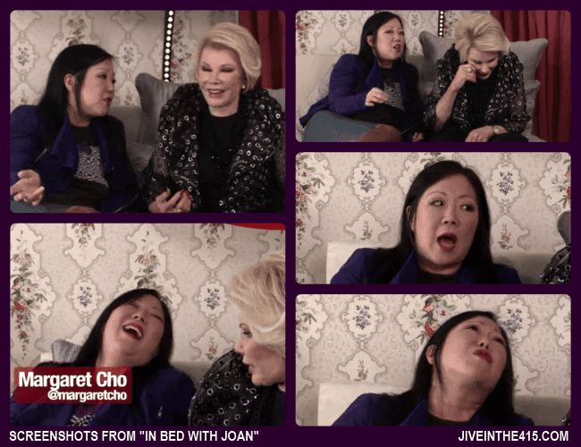"Screenshots from ""In Bed With Joan"" starring Joan Rivers and special guest  Margaret Cho."