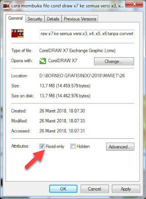Cara Membuka File Corel Draw X7 Ke Semua Versi x3, x4, x5, x6