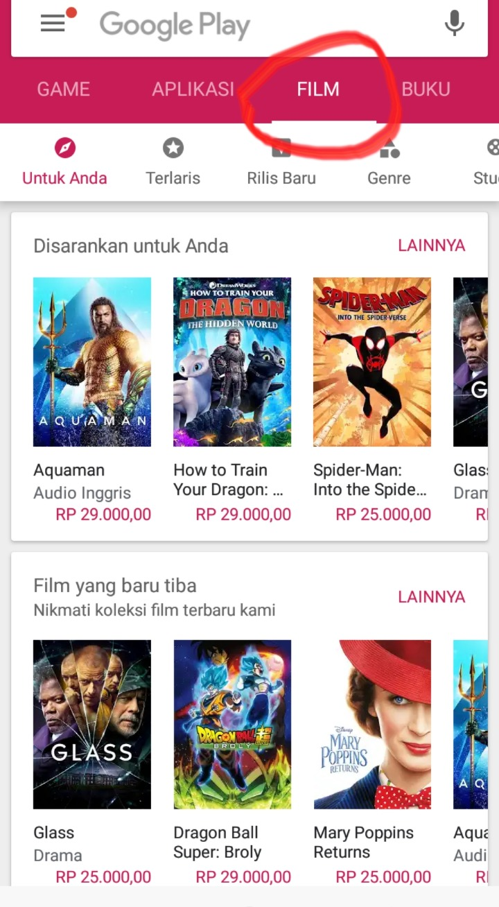 Cara Membeli Film Di Google Playstore Android Menggapaimimpi Web
