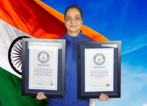 Kiran Uniyal created Individual Guinness World Records