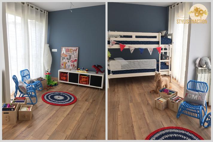 El cuarto de los chicos de mi amiga Lau. Me mando las fotos para que las comparta en el blog