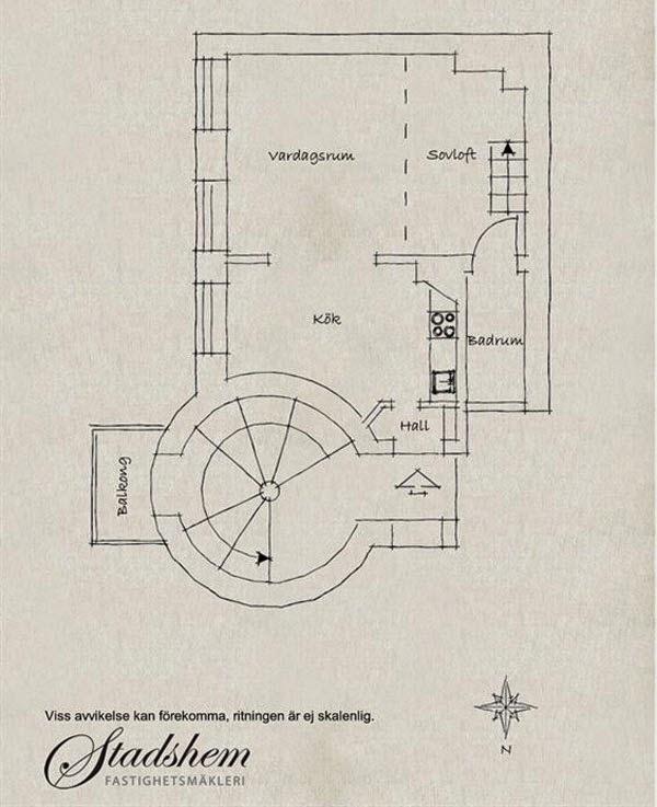 Projeto de Apartamento sueco alto padrão