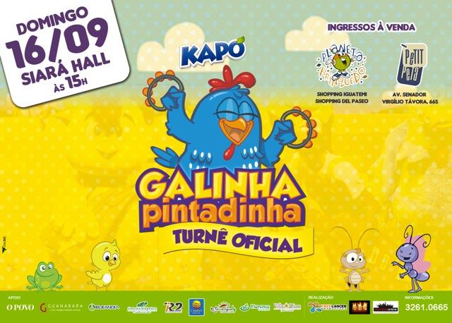 Mais um grande sucesso que começou através da internet, a Galinha  Pintadinha -Turnê Oficial estará em Fortaleza em 2 sessões no Siara Hall no  dia 16 de ... ab46f2c76b