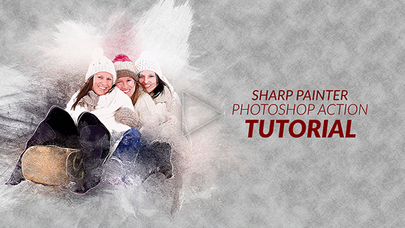 Sharp Painter Photoshop Action