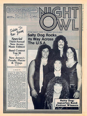 Salty Dog on the cover of The Aquarian rock magazine March 1979
