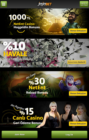 Jojobet Casino Promo Screen