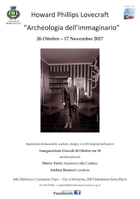 Volantino mostra Lovecraft Serra Riccò 2017