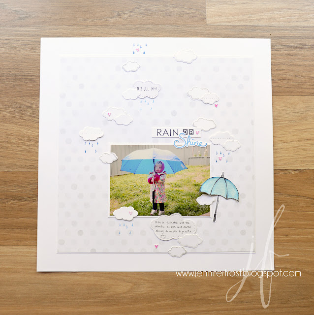 Weather Together, Umbrella Framelits Dies, Sunburst Sayings, Labeller Alphabet, Scrapbooking, Stampin' Up!, Fancy Friday, Papercraft by Jennifer Frost