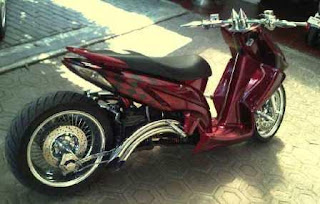 Modifikasi Motor Honda Vario Low Rider