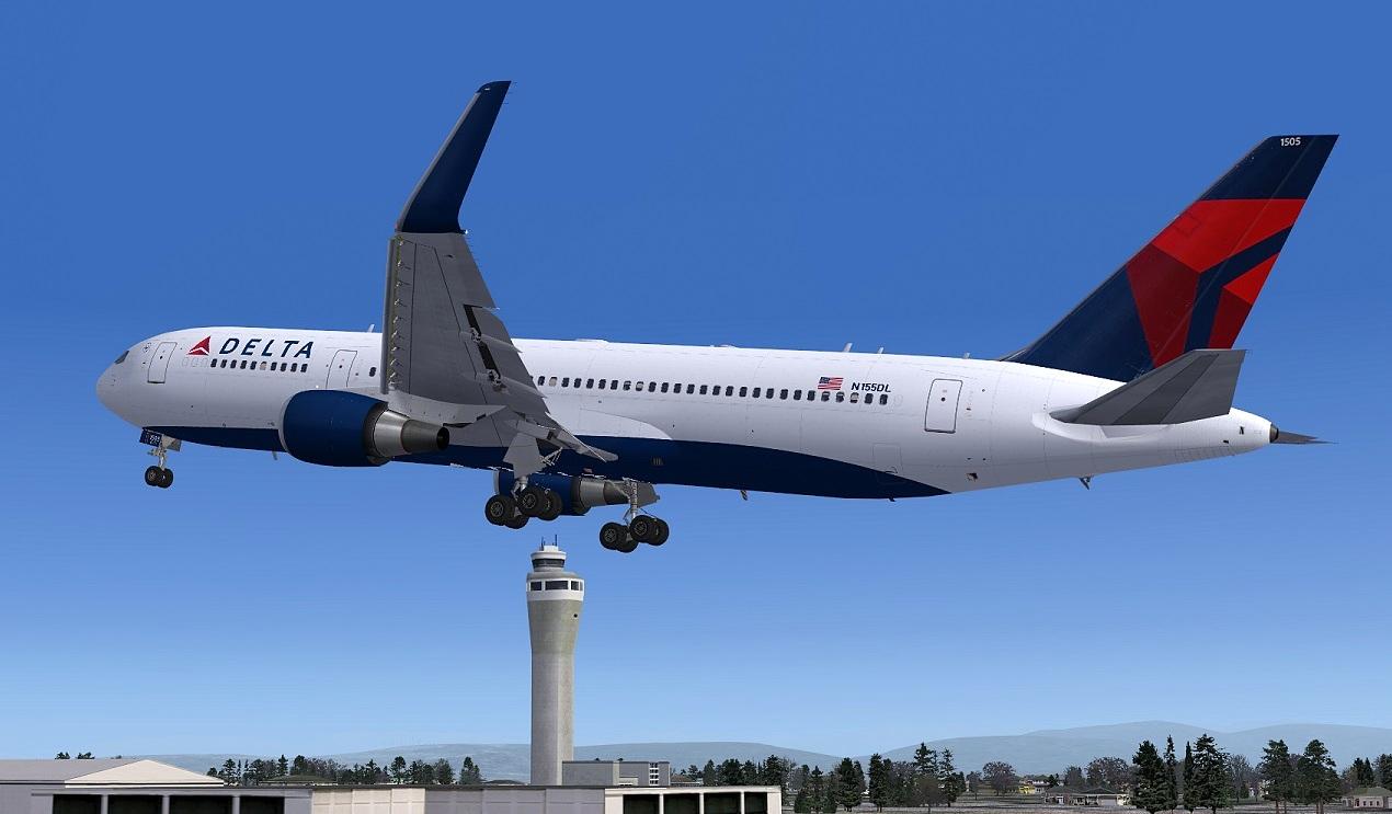 FS2004 screenshots Sweden: Delta Boeing 767-300