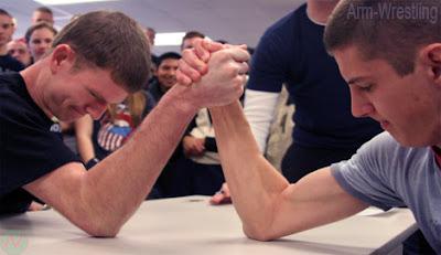 Arm-wrestling game,