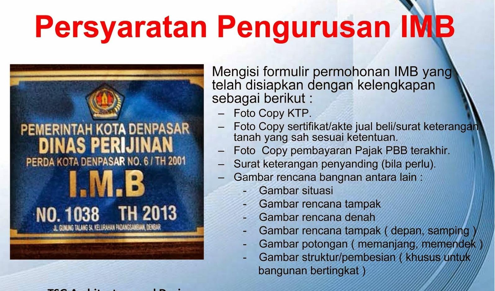 Syarat Dan Prosedur Pengurusan IMB