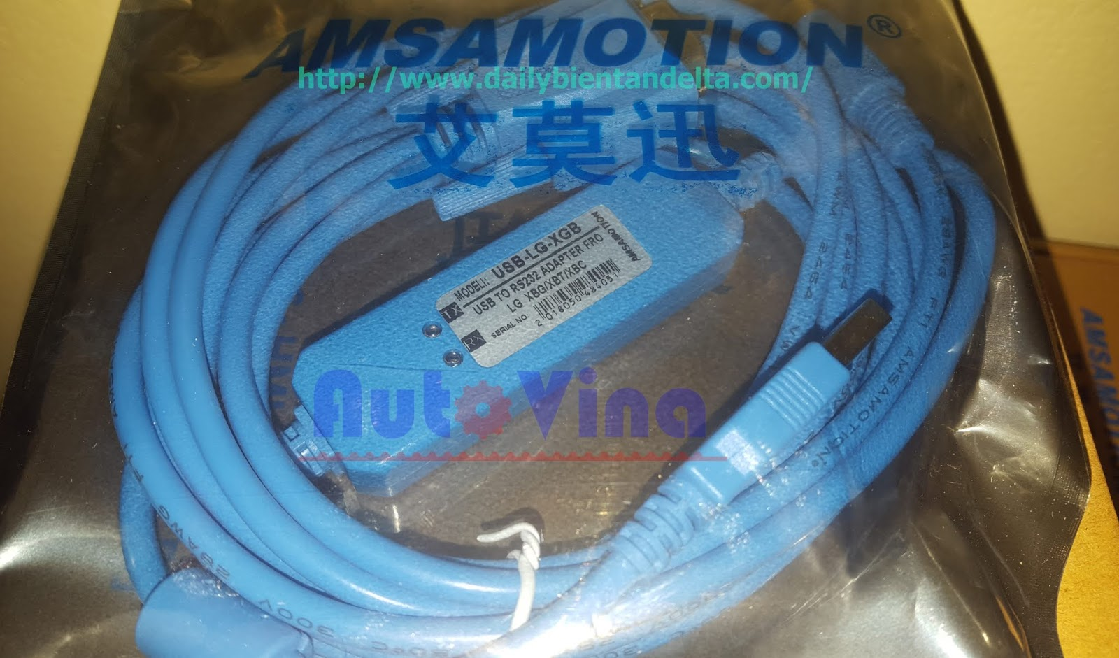 Cable kết nối lập trình PLC LG XGB XBC XBM Series USB-LG-XGB
