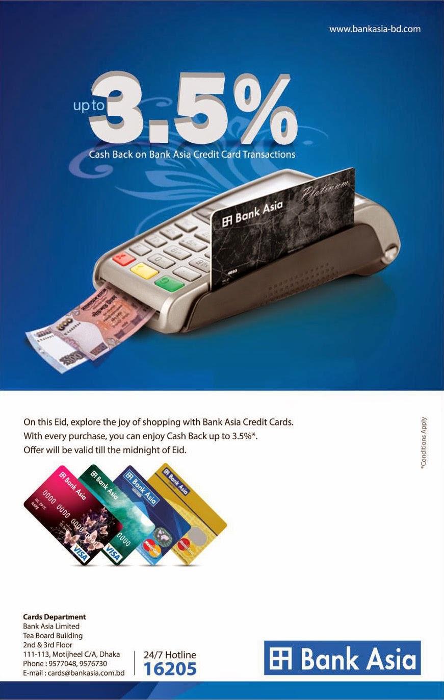 Bank Asia Ltd. (Credit card cash back offer!) | Ads of ...