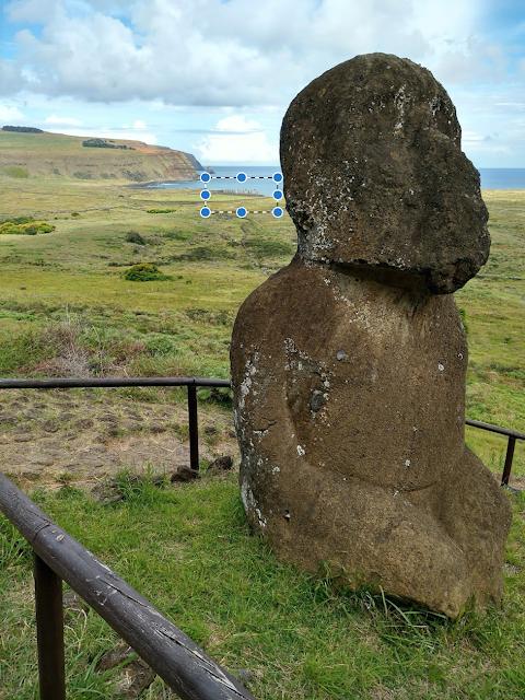Moái arrodillado, Isla de Pascua