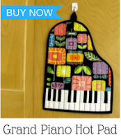 grand piano hot pad pattern