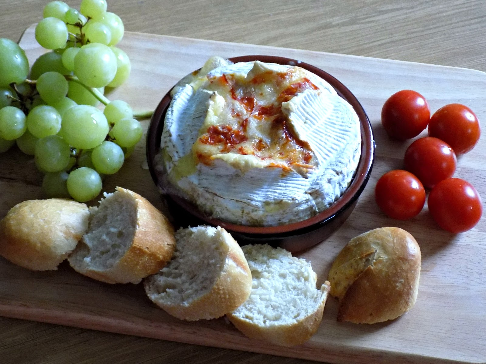 baked camembert with chorizo