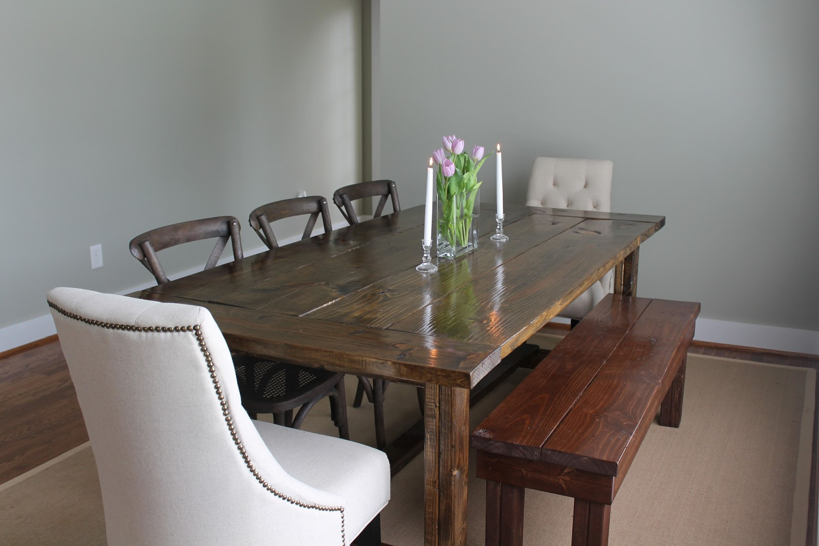 {DIY} Farmhouse Dining Table