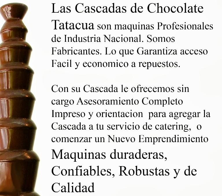 calidad cascada de chocolate