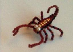 Насекомые из бисера объемные скорпион