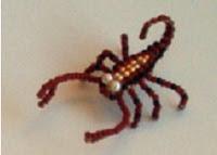 Скорпион из бисера. Схема