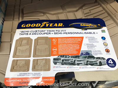 Costco 1127449 - Goodyear All-weather Floor Mats: effective, practical, and easy to clean