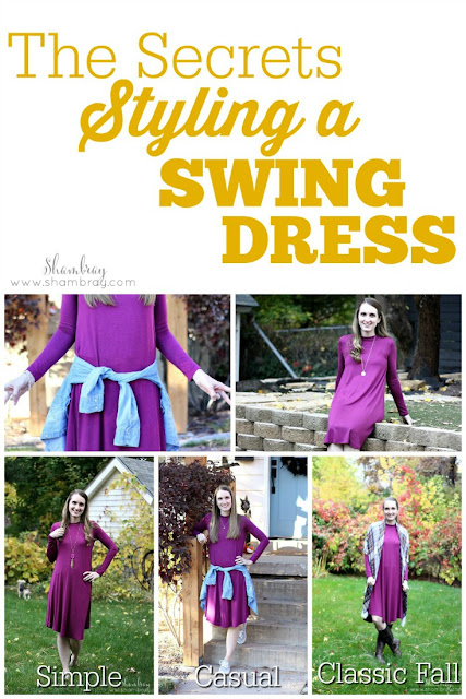 Simple ways of styling a swing dress outfit