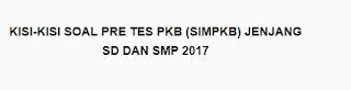 KISI - KISI SOAL PRETES SIM PKB 2017