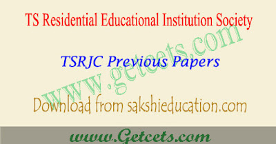 TSRJC Previous papers model paper download with key 2020