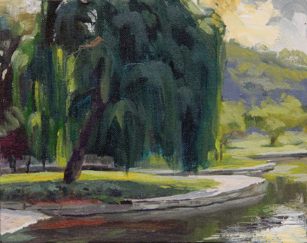 Christopher Greco Willow - University Circle Cleveland Museum Of Fine Art Wade Ciecle Oil