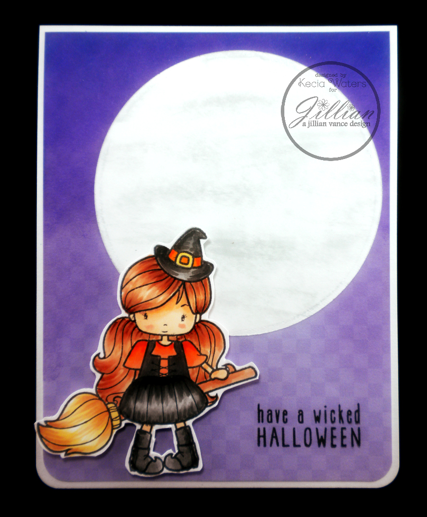 A Jillian Vance Design, Whimsie Doodles, Kecia Waters, Copic markers, Halloween card
