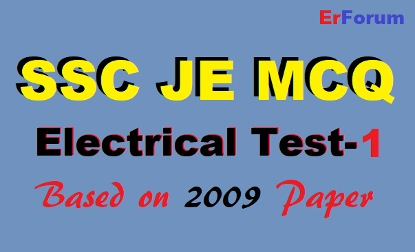 ssc-je-electrical-mcq-2009