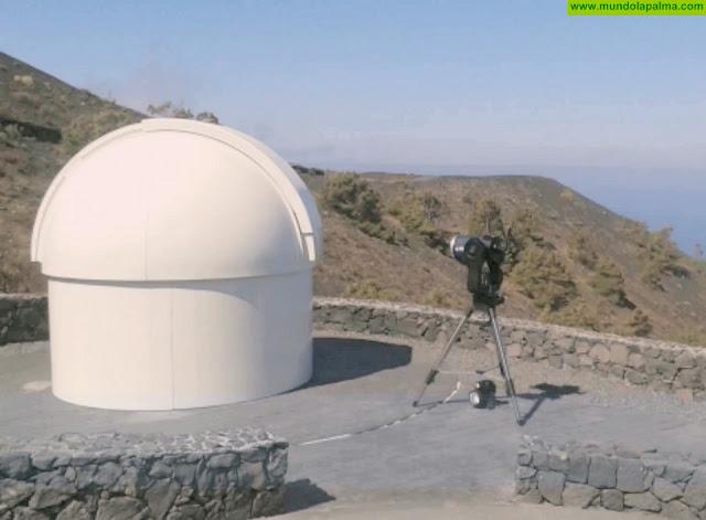 """""""La primera luz"""" del Telescopio Solar del Sur - TESS de Fuencaliente"""