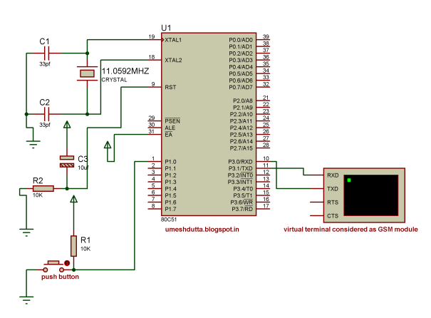 How To Interface A Gsm Sim 300 Modem With Atmega32 To Send And