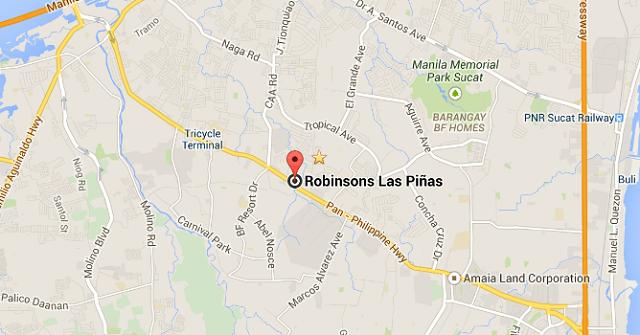 Robinsons Place Las Pinas Map