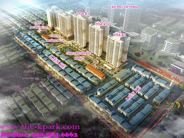 Hình ảnh tổng quan dự án The K Park