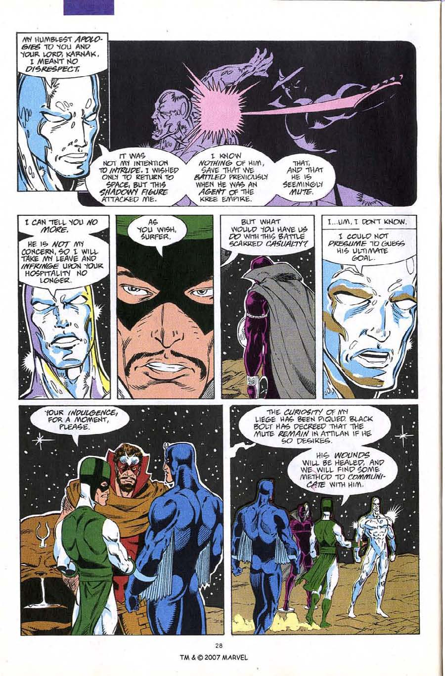 Read online Silver Surfer (1987) comic -  Issue #60 - 30