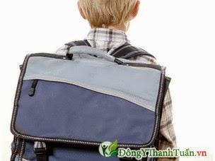 Cặp sách quá nặng gây ra bệnh đau lưng ở trẻ em