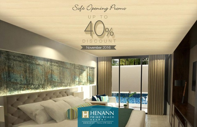Soft Opening Promo at Henann Prime Beach Resort