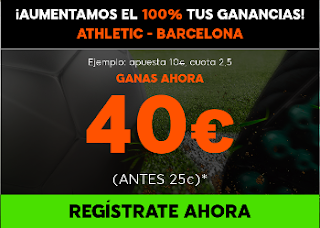 888sport aumento 100% beneficios Athletic vs Barcelona