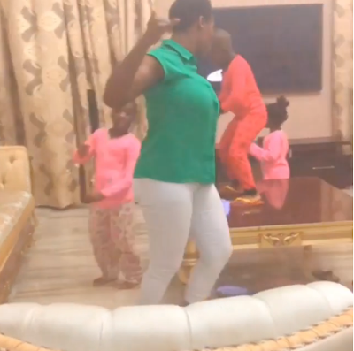 """""""My Friday Starts Today"""" - Mercy Johnson Undergoes Dance Competition With Her 3 Kids"""