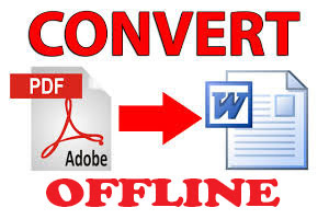 Convert pdf to word offline using ms word