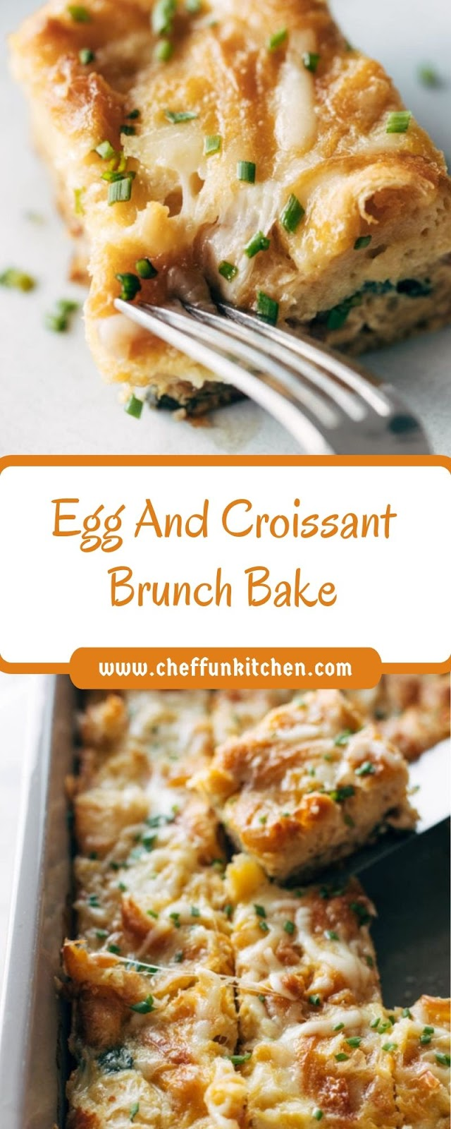 Egg And Croissant Brunch Bake